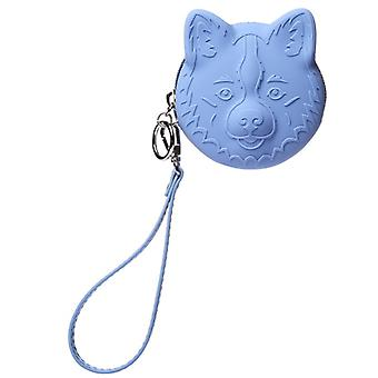 Coin Purse Dog in Blue