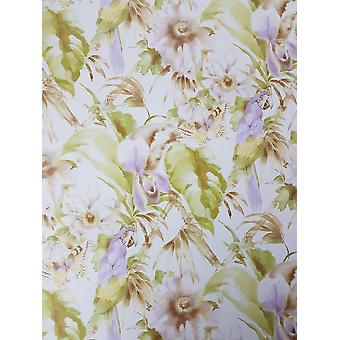 Tropical Parrot Butterfly Floral Wallpaper Purple Green Pre Pasted Vinyl Norwall