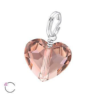 Hjärta kristall från Swarovski® - 925 Sterling Silver Charms - W28995X