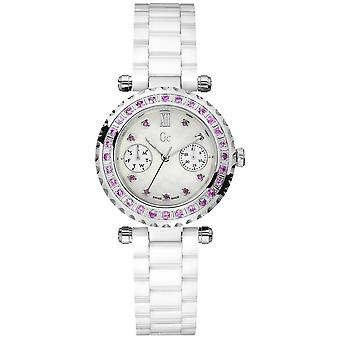 diver chic diamonds - gc swiss made Quartz Analog Woman Watch with 92000L1 Ceramic Bracelet