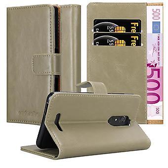 Cadorabo Hülle für WIKO VIEW Case Cover - Handyhülle mit Magnetverschluss, Standfunktion und Kartenfach – Case Cover Schutzhülle Etui Tasche Book Klapp Style