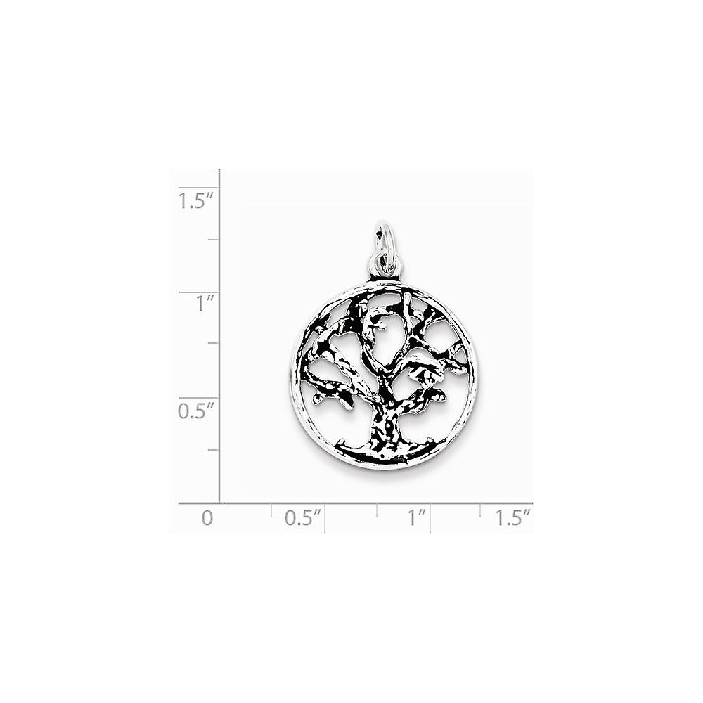 925 Sterling Silver Tree Charm Pendant Necklace Jewelry Gifts for Women - 3.1 Grams