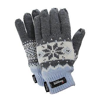 FLOSO Ladies/Womens Thinsulate Fairisle Thermal Gloves (3M 40g)