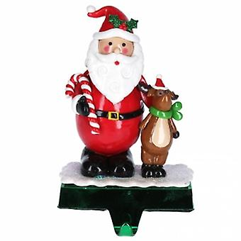 Gisela Graham Santa with Deer Stocking Holder| Handpicked Gifts