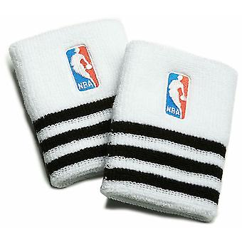 adidas NBA Basketball Wristband Sweatband White/Black - One Size
