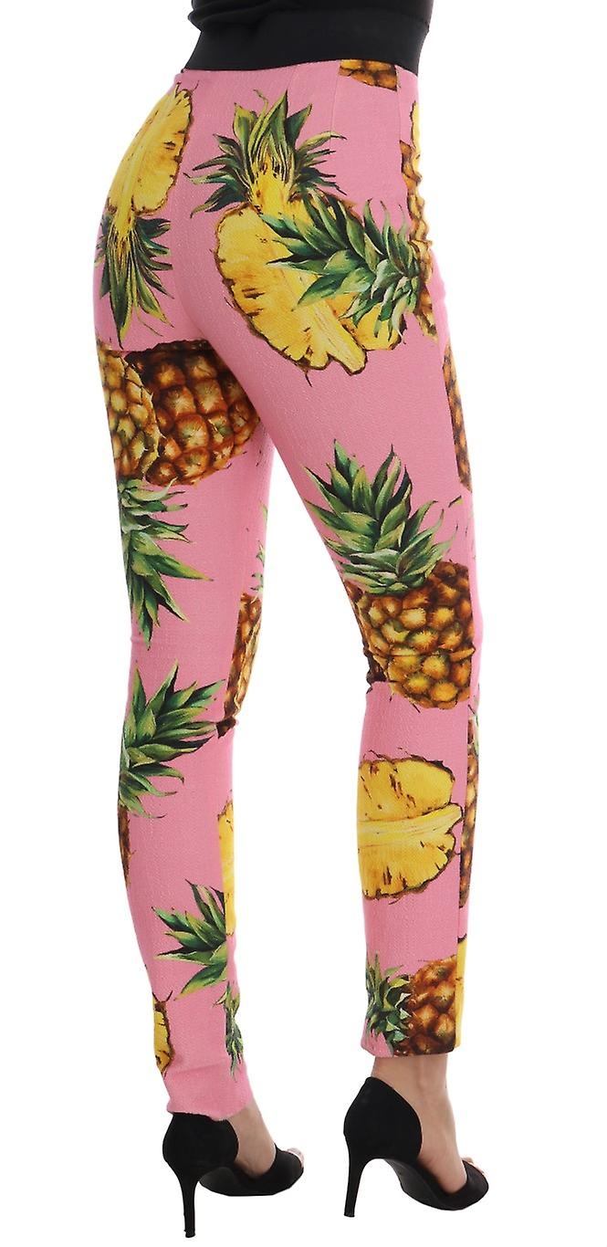 Multicolor Pineapple Stretch Slim Pants