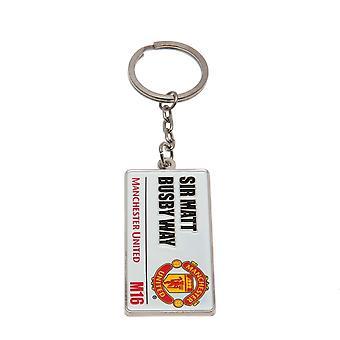 Manchester United FC Road Sign Keyring