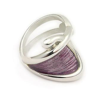 Sterling Silver Traditional Scottish Simply Stylish Purple Enamel Hand Crafted Design Ring