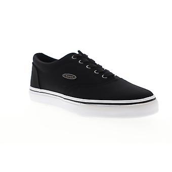 Lugz Vet  Mens Black Canvas Lace Up Low Top Sneakers Shoes