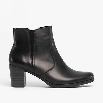 Rieker Y8989-00 Ladies Block Heel Ankle Boots Black