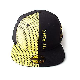 Pokemon Block Pikachu Snapback Baseball Cap Unisex Black/Yellow (SB500130POK)