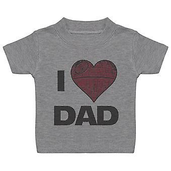 Jag älskar pappa Star Heart-baby T-shirt
