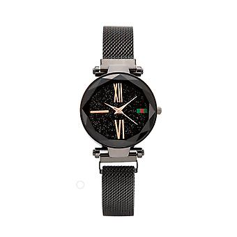 Black face magnetic buckle watch
