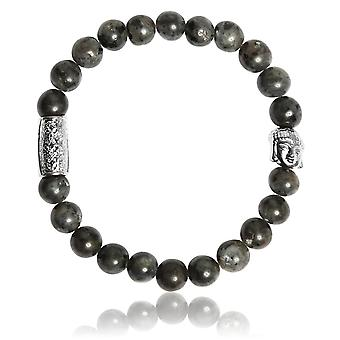 Lauren Steven Design ML003 Bracelet - Larvikite Grey Men's Natural Stone Bracelet