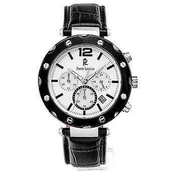 Show Pierre Lannier 273D123 - man black leather Chronograph Watch