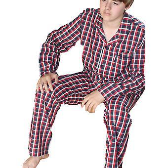 الرجال JOCKEY مصمم منقوشة تحقق بوبلين القطن بيجاما ملابس النوم 52305