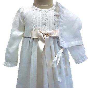 Taufen Kleid und Dophätta, off White Broad Bow. Grace Of Sweden
