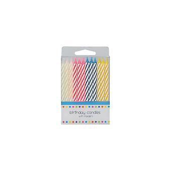 Culpitt 24 Bougies Candy Stripe