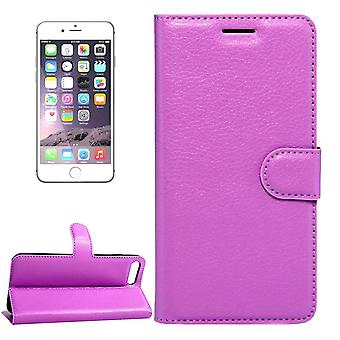 iPhone 8,7 lompakko kotelo, modish lychee kestävä suojaava nahkakansi, violetti
