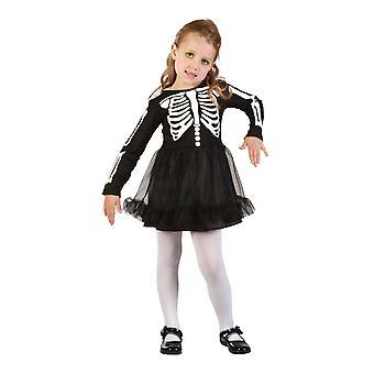 Bristol Novelty Toddler Skeleton Girl Costume