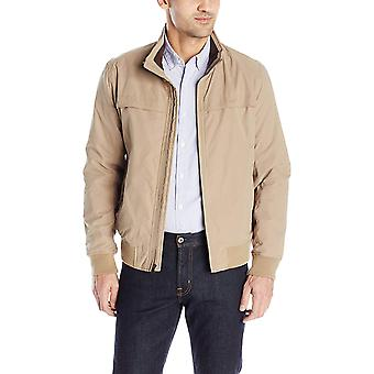 Dockers Men's Micro Twill Golf Bomber Jacket, Khaki,, Khaki, Size X-Large