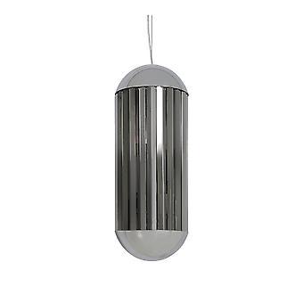 Ljus & Living GRAYSON hängande lampa krom & rök (24x65cm)