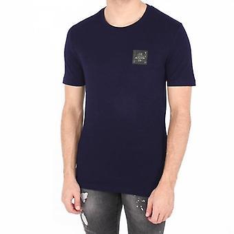 Love Moschino Metal Logo camiseta azul marino M473189E1811