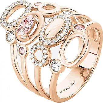 Ring Zeades Pebble Ro - ring Rose Gold crystals woman