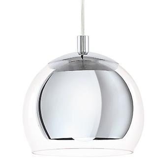 Eglo Rocamar chroom en glas één hanger