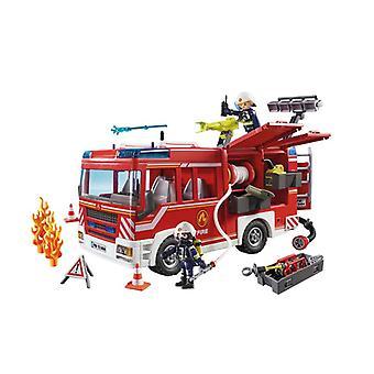 带工作水炮的Playmobil消防车