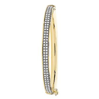 Eternity 9ct Gold Oval Stardust Baby/Kids Bangle