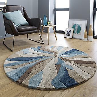Unendliche Splinter Petrol blau Runde Kreis bunte Teppiche
