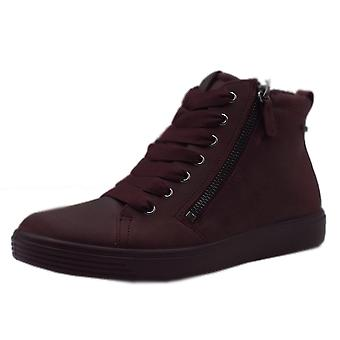 ECCO 450163 Soft 7 Tred Gore-tex Sporty Lace-up Winter Boots In Wine
