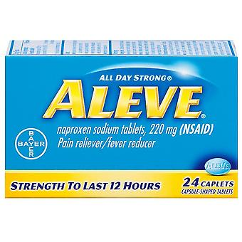 Aleve all day strong pain reliever, fever reducer, caplets, 24 ea