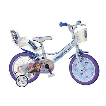 DINO Bikes Disney Frozen 2 14inch Bicycle With Doll Carrier