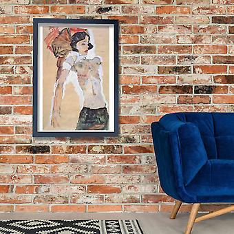 Egon Schiele - alaston nainen Juliste Tulosta Giclee