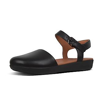 FitFlop Cova™ Ii Leather Closed Toe Sandals In Black