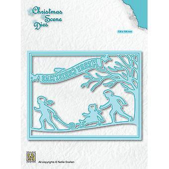 Nellie's Choice Christmas Scene Die Snowfun!!! CRSD008 (10-19)