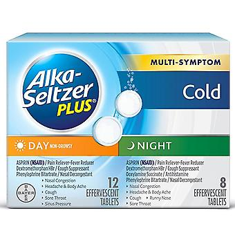 Alka seltzer day & night cold medicine, effervescent tablets, 20 ea