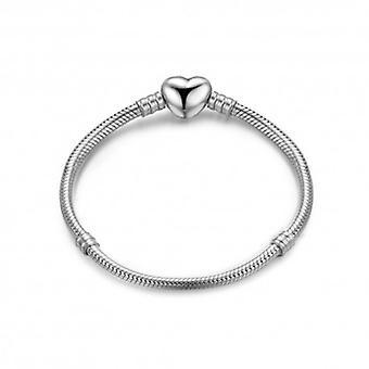 Sterling Sølv armbånd armbånd skinnende hjerte - 5509