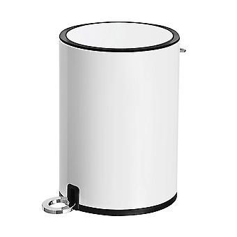 Pedal de acero Bin-3 litros-redondo-blanco