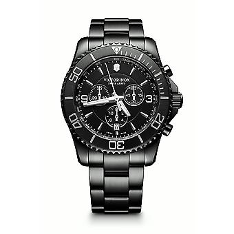 Victorinox Maverick Chronograph Black Edition Tachymeter Men's Watch 241797