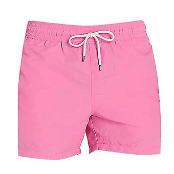 Ralph lauren men's pink slim traveller swim shorts