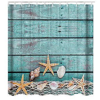 Cortinas de ducha de estrellas de mar 180x180cm