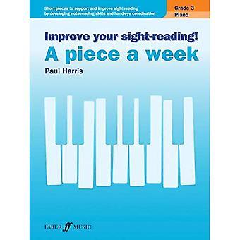 Verbessern Sie Ihre Klaviertechnik! Klavier - A Stück pro Woche, Klasse 3: kurze Stücke an den Support und Blattspiel durch Entwicklung von Hinweis-Lesekompetenz zu verbessern und... (Faber Edition: verbessern Sie Ihre Blattspiel)