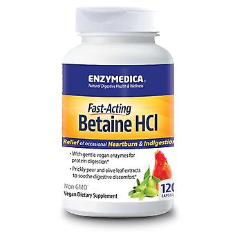 Enzymedica Fast Acting Betaine HCl Caps 120 (10081)