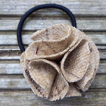 Hettie ladies hair bobble slate oatmeal