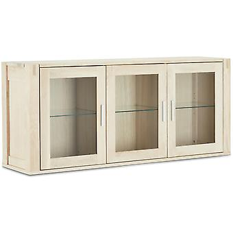 Furnhouse Texas 3 Tür Wandschrank, Eiche, Seife Finish, 3 Regale, 140x45x50 cm