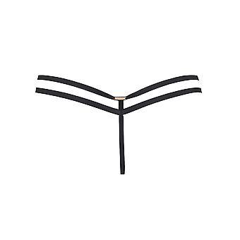 Bluebella 41075 Women's Lumi Black Lace Panty Thong