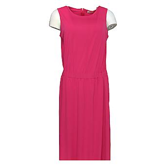 Joan Rivers Classics Collection Dress Jersey Knit Maxi Pink A287235